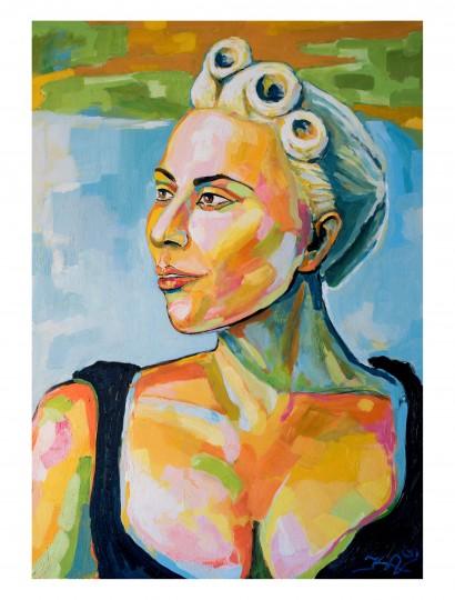 'Lady Gaga' 70x100 aliejus, drobė